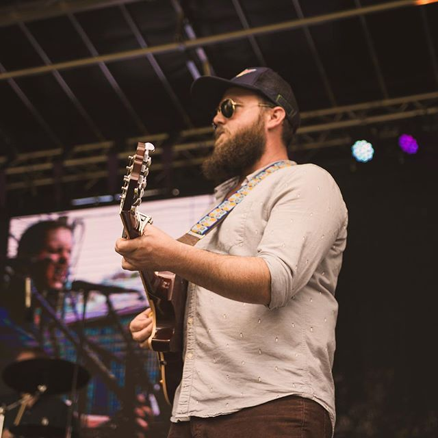 @ztucker5 at @heartwoodsoundstage last month. You can see me grimacing on a large screen behind him. Digital Photograph by @matthewkfowler. . . . #gainesvillemusic #gainesville #indiemusic #livemusic #diymusic #diymusician