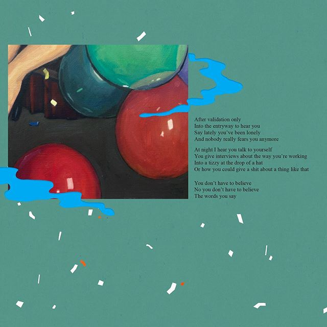 I wrote these lyrics thinking about how often I enter a conversation looking only to validate myself, something I want to do, something I feel, a decision to have ice cream, etc. Enjoy another snippet of the LP3 artwork by @charleshedrick. . . . . #gainesville #gainesvillemusic #diymusician #diymusic #indiemusic #recording #songlyrics #recordingartist #lyrics