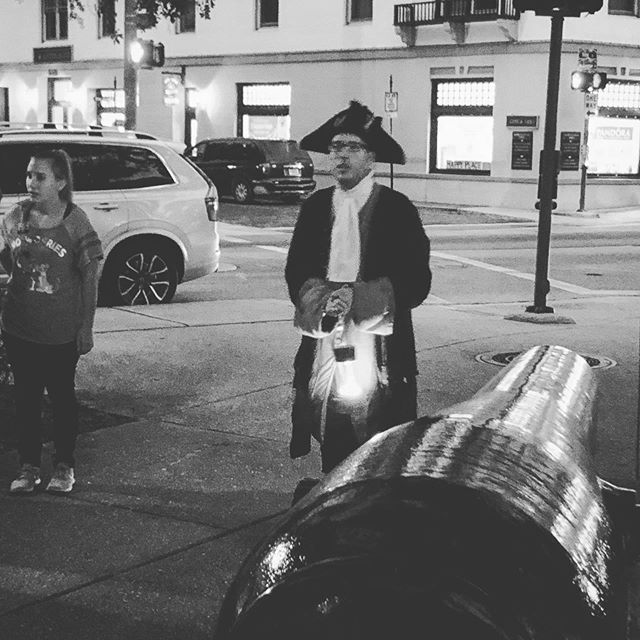 Pictured is a gentleman who is, without question, the best tour guide I've ever met. I got everything I wanted out of this ghost tour through historic St. Augustine, FL. Though our experience last Saturday evening failed to convince me that ghosts are real (I want to believe), it restored my belief in the subtle and enduring beauty of the human spirit. Happy Fourth of July!