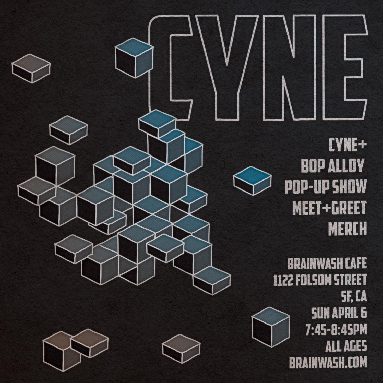CYNE pop-up show handbill