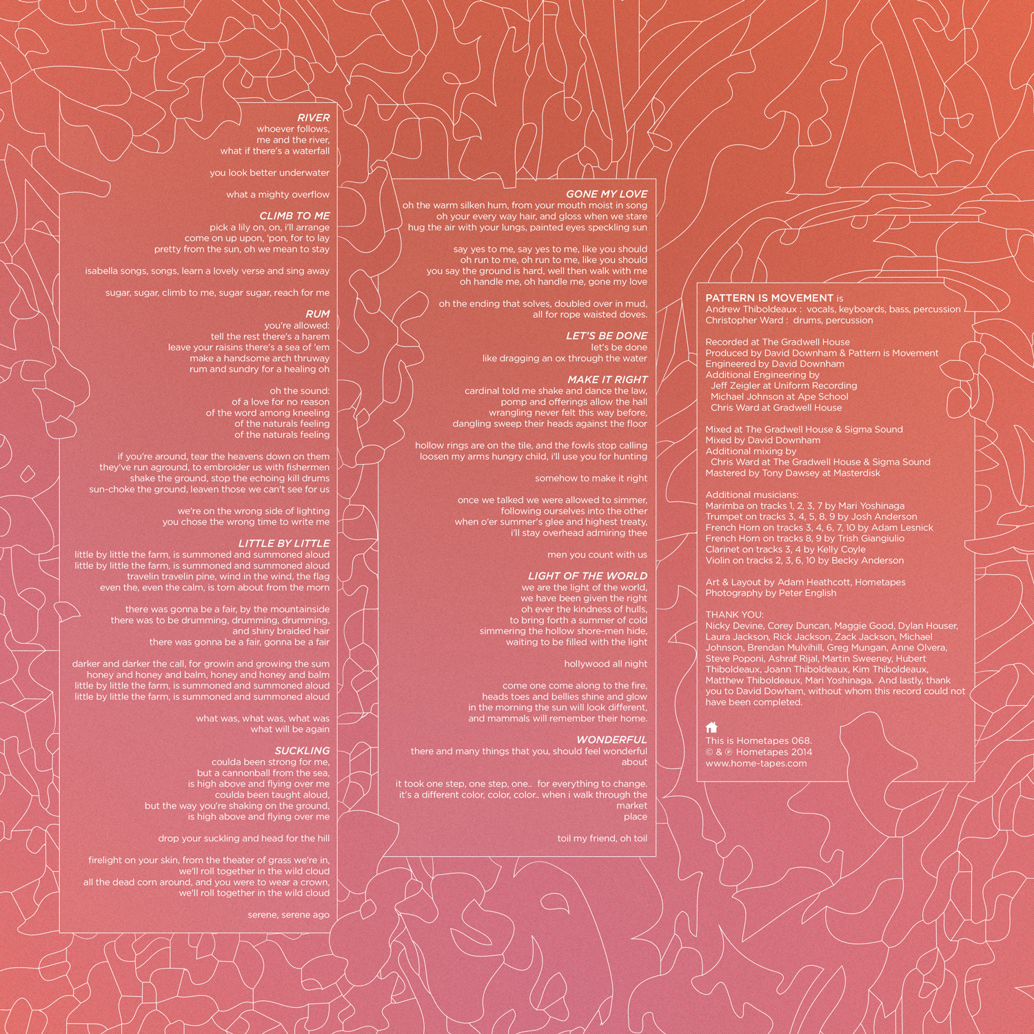 Pattern Is Movement - Inner Sleeve Back
