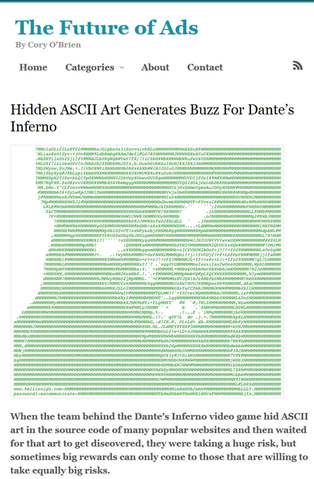 ASCII Art Ads