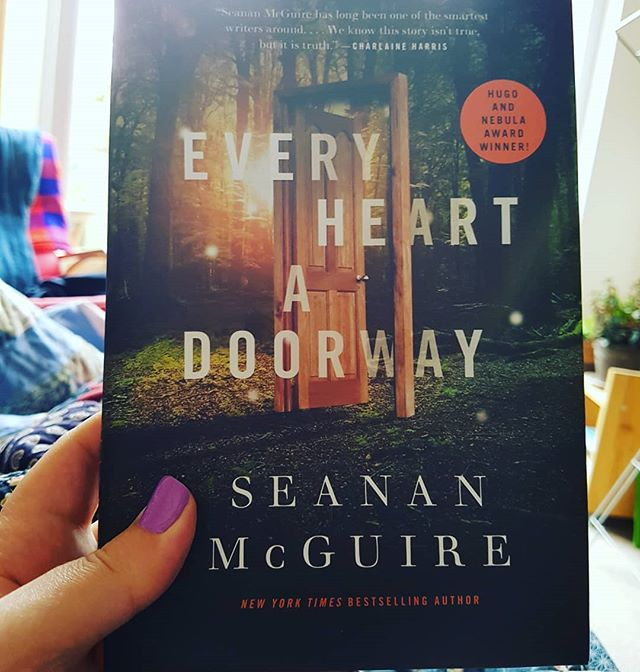 God this was beautiful. A school for children who've gone through doors to fantasy worlds, come back and long to return. Ate it in one go like three satsumas. GORGEOUS.  Thank you @seananmcguire.