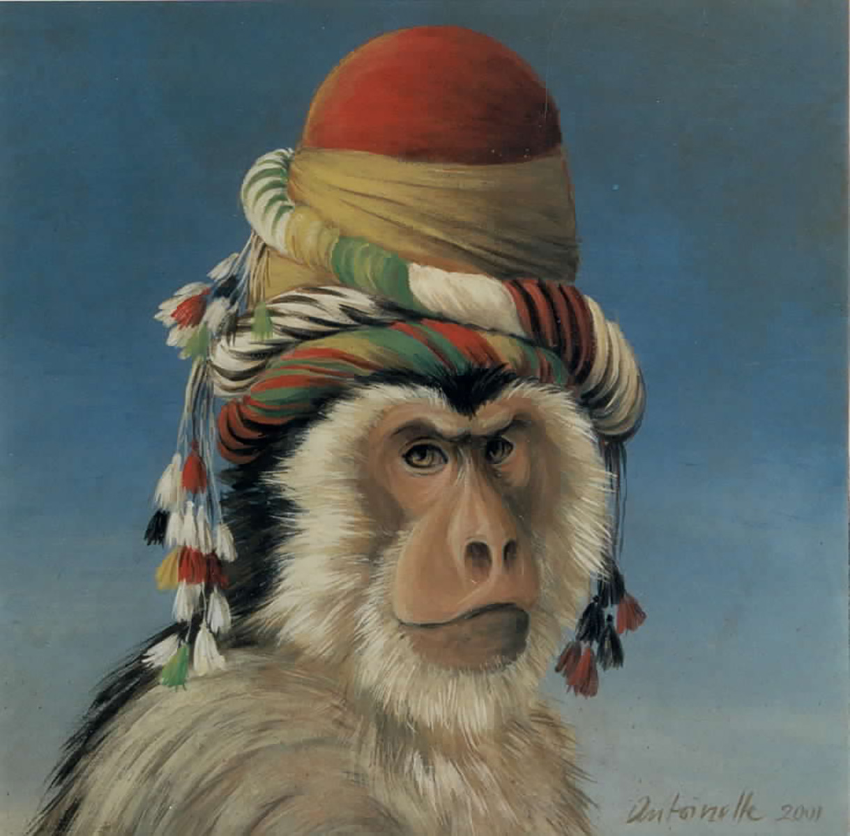 Monkeys with Headdresses