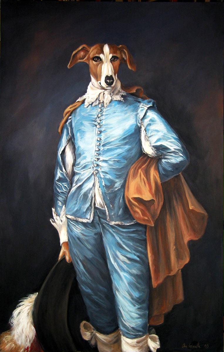 Dorian Grey Hound, Earl of Kibbles and Bits