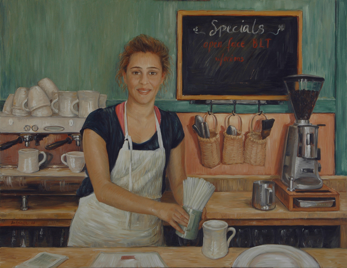 Laura at the Café
