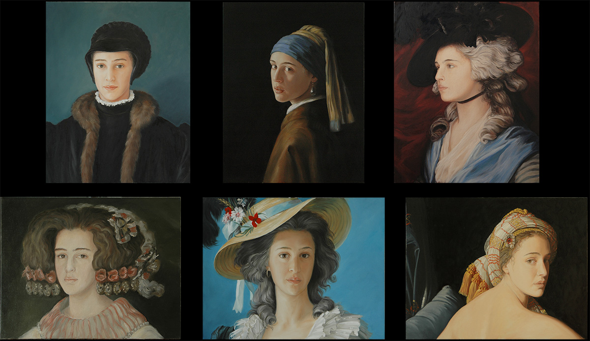 Laura and the Painters, a retake of famous portraits with Laura's face
