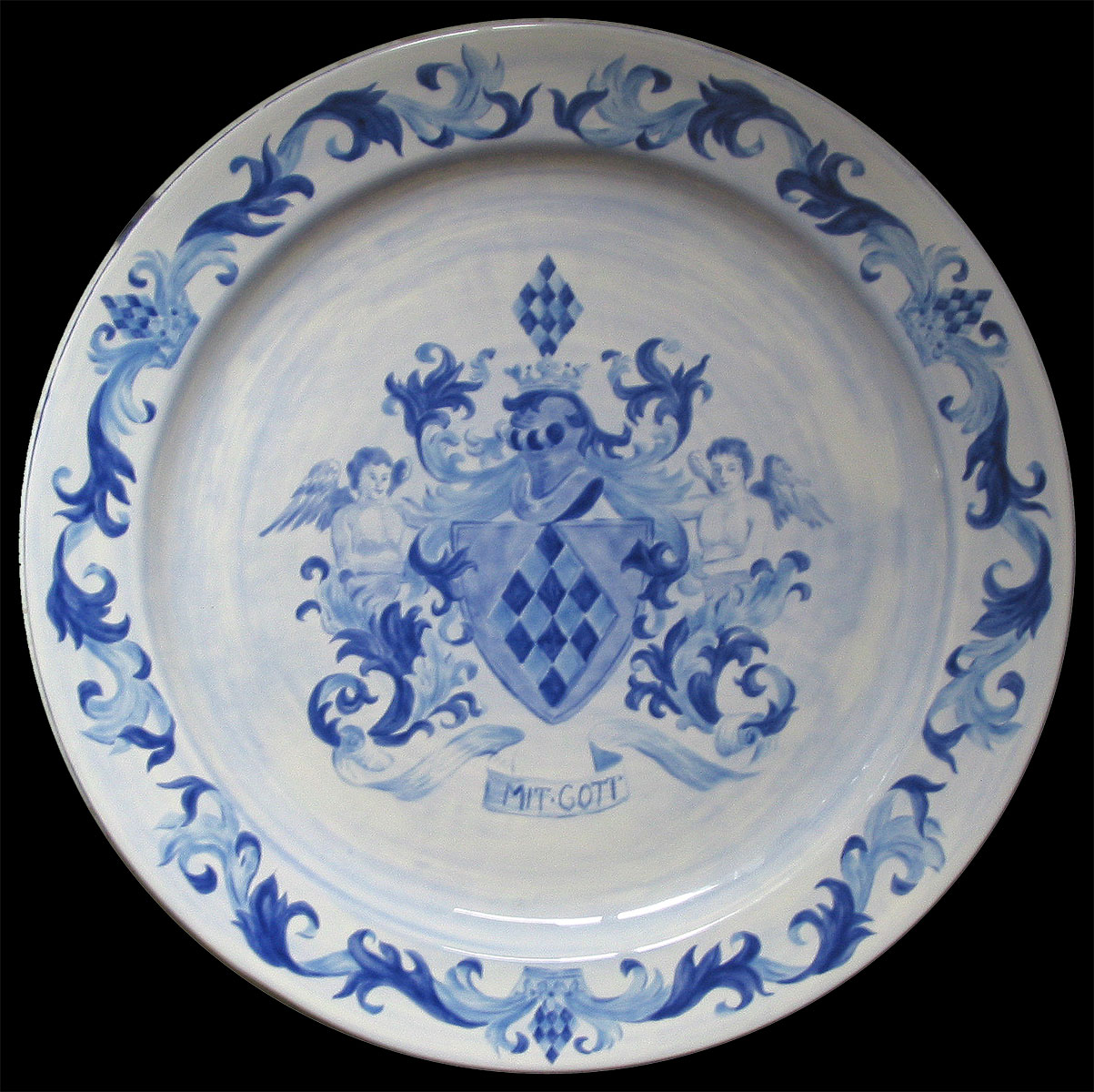 Plate with Crest