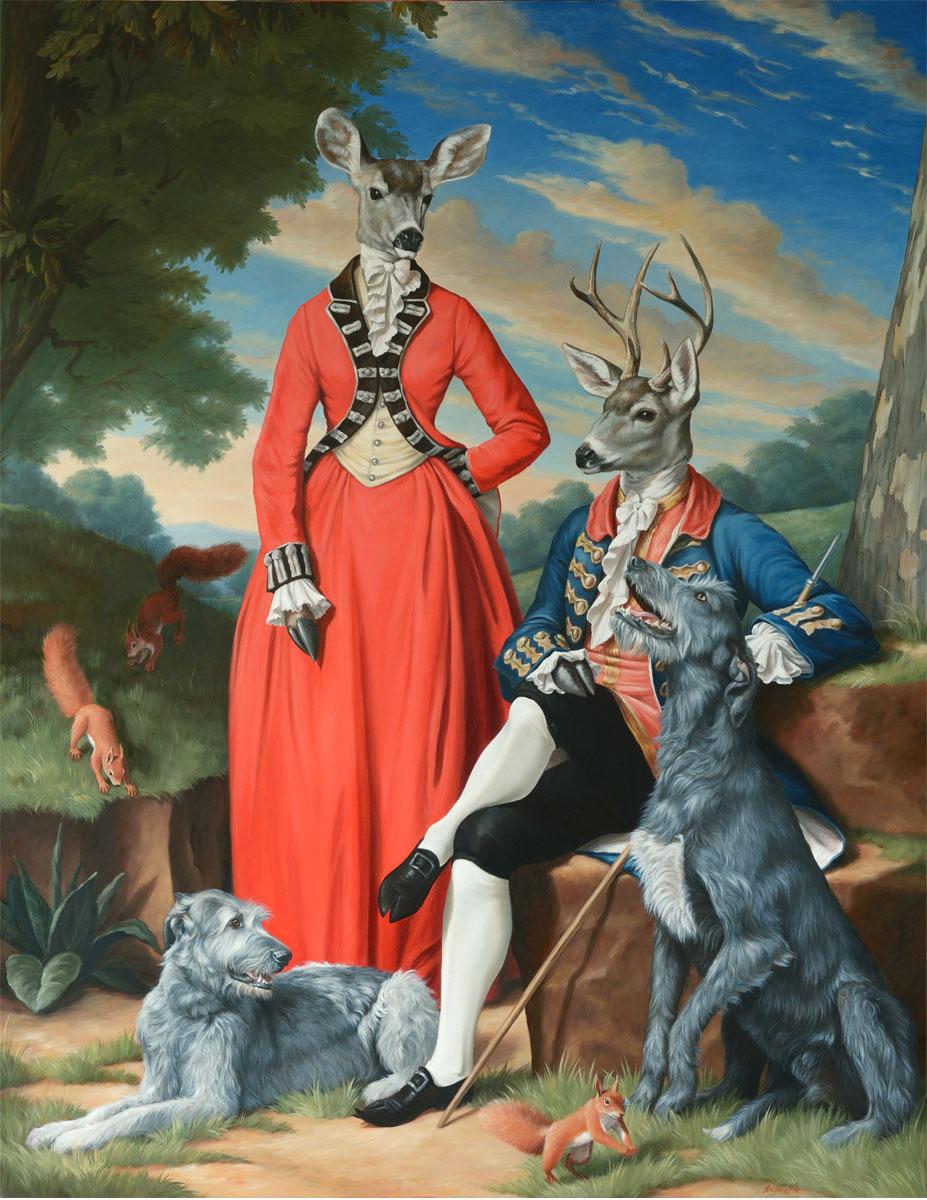 Lady Doe-Ra & Sir Buckminster with their dear Hounds