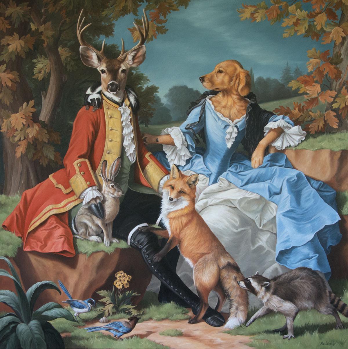 dog portrait, commission