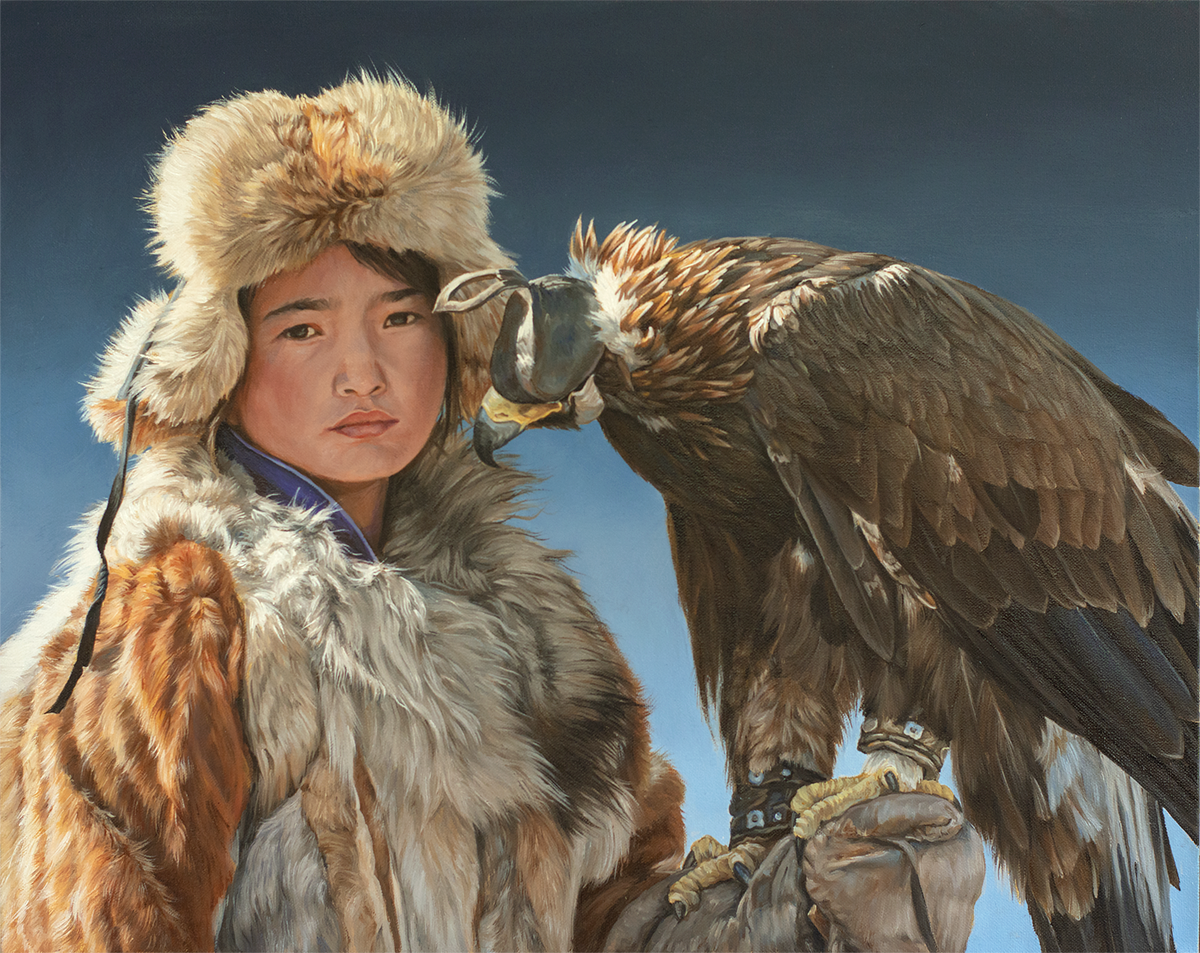 Little Eagle Huntress, left