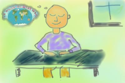 Meditate on world peace