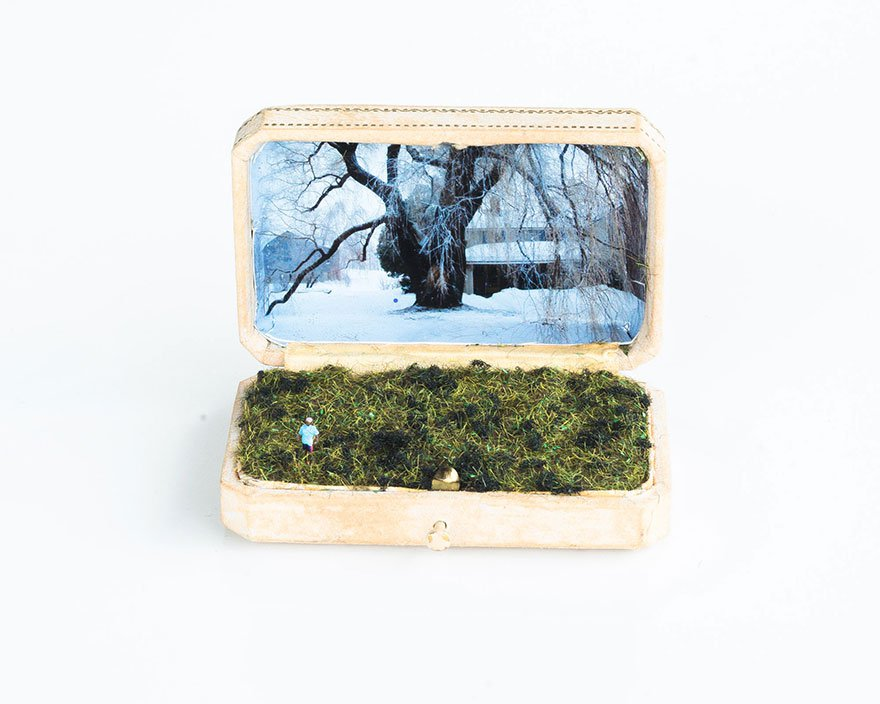"Summer in Winter, 2013, Mixed Media, 3""x2""x2.5"""