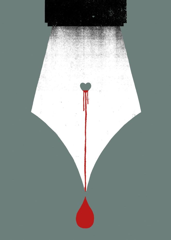 Scripturient: Possessing a violent desire to write.