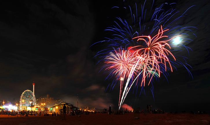 Firework in Coney Island, NY
