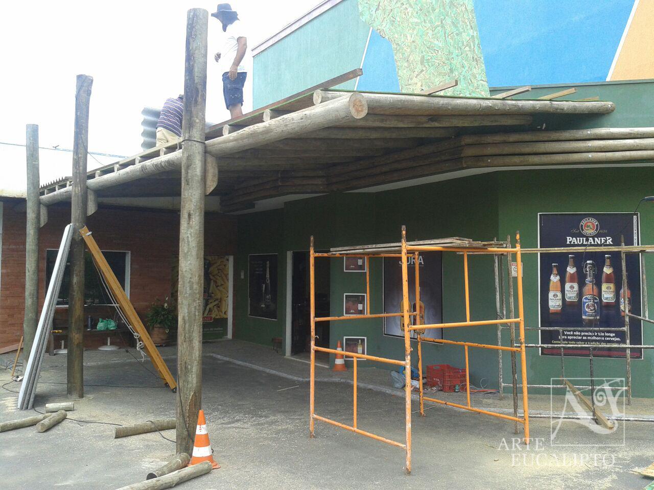 Estrutura suporte segundo piso
