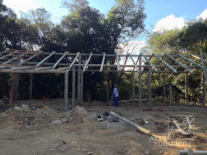 Inicio estrutural , cobertura Baias