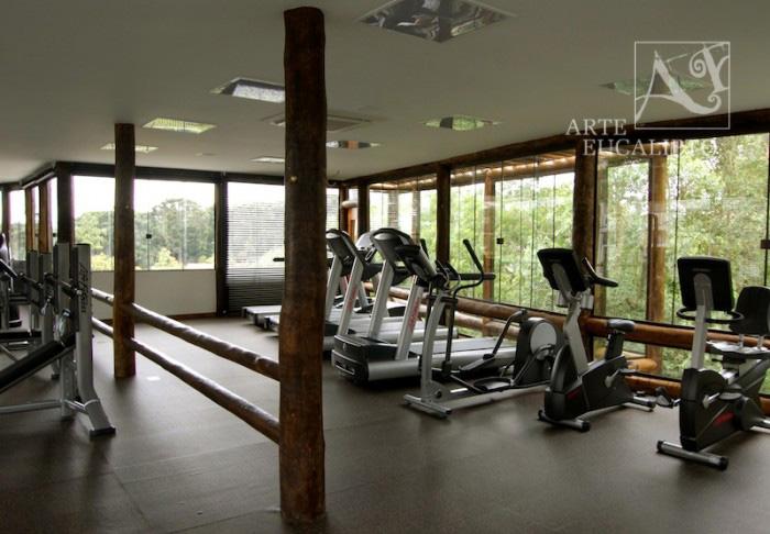 Espaço interno academia