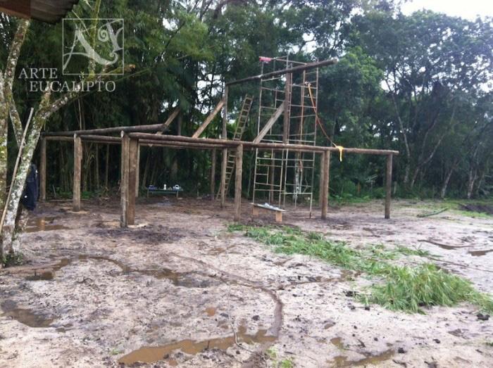 Início estrutural churrasqueira Antonina - Pr