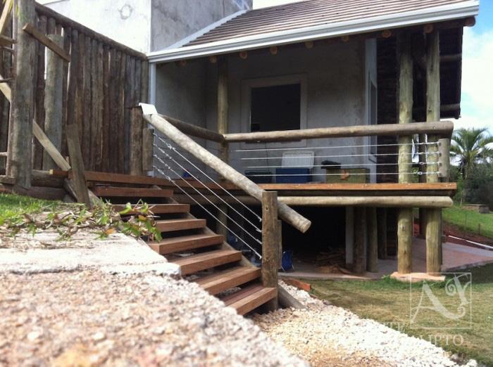 Deck varanda casa de campo Campina Grande do Sul , Pr