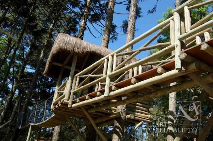 Playground + casinha do tarzan ponte pencil em troncos de Eucalipto Citriodora Autoclavado , Quatro Barras - Pr