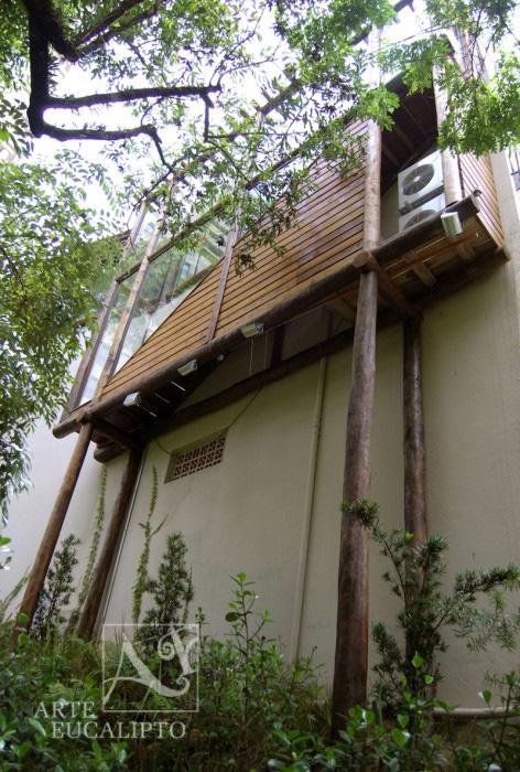 Mescla troncos de Eucalipto Autoclavado , Deck e vidros