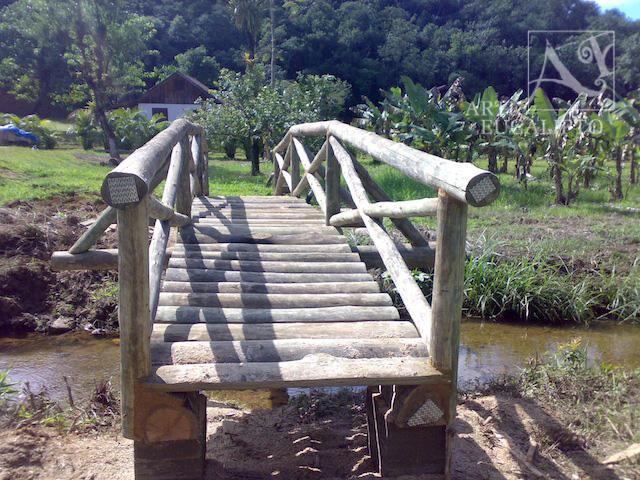 Ponte em troncos de Eucalipto Autoclavado , Morretes - Pr