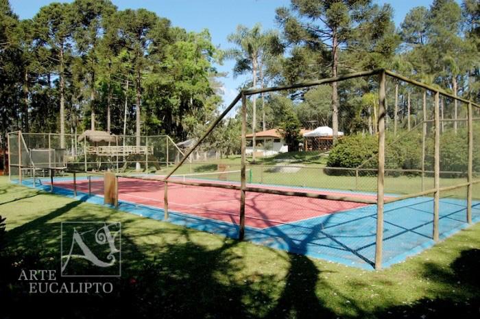 Alambrado em troncos de Eucalipto Citriodora Autoclavado para quadra poliesportiva , Quatro Barras - Pr