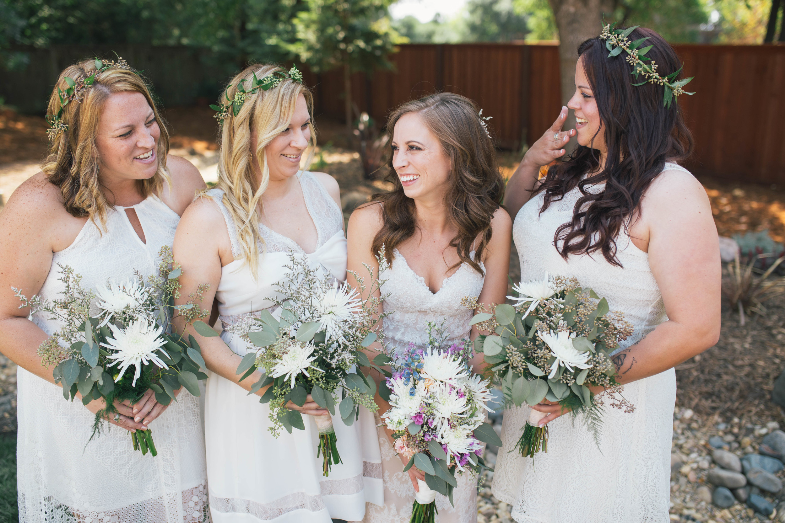 sonoma-county-wedding-photographer-backyard-bridesmaids-bride-flower-crowns