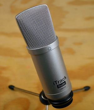 The microphone included with the iTrack Studio (not included with the iTrack Solo).