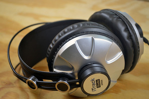 The headphones included with the iTrack Studio (not included with the iTrack Solo).