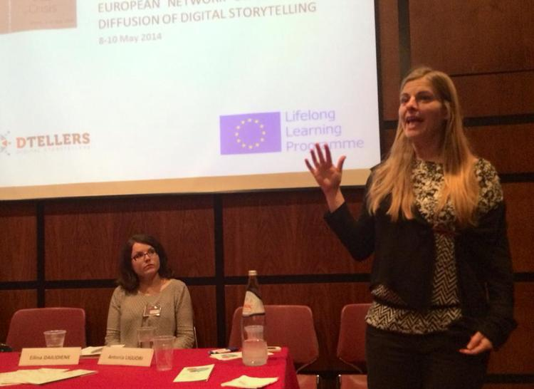 Federica Pesce and Eilina Dailidiene present the European Network for the Diffusion of Knowledge on Digital Storytelling (ENKDIST), at the Athens Conference. Visit http://www.dtellers.eu