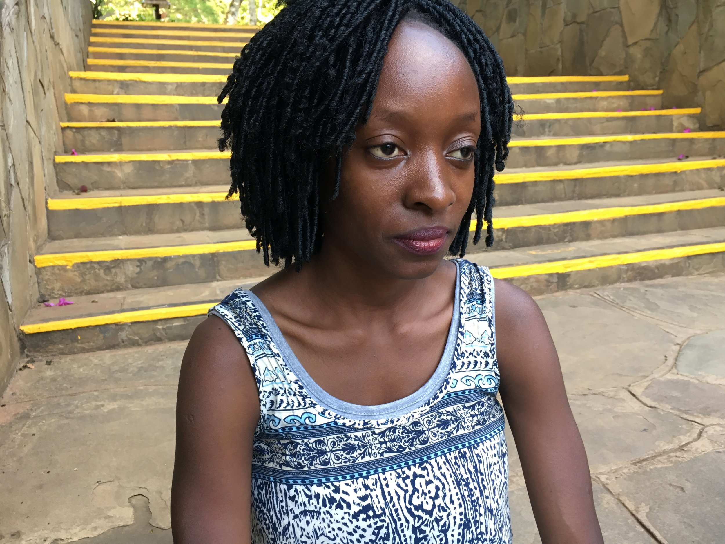 Geraldine works with DREAMS Innovation Challenge grantee Brick by Brick, which teaches girls to construct reusable menstrual pads for personal use and income generation, and enables in-school reproductive health education .
