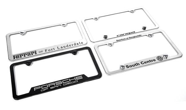 Camisasca Automotive Stainless Steel Dealership License Plate Frames