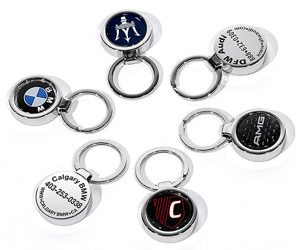 Camisasca Auotomotive Stainless Steel Dealership Medallion Keychains