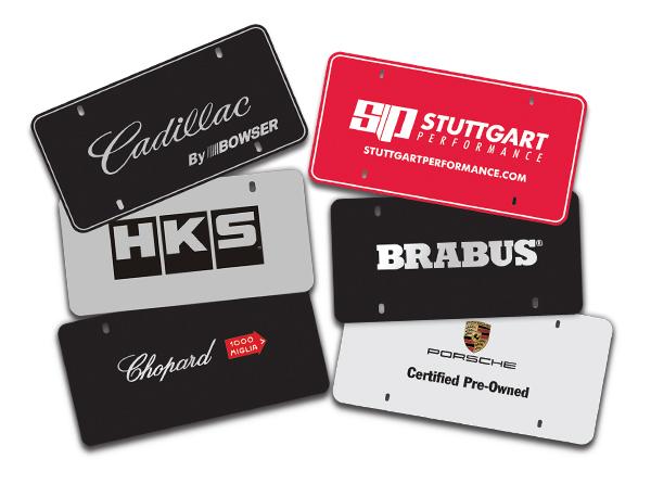 Camisasca Automotive Custom Screen Printed Lexan Plates