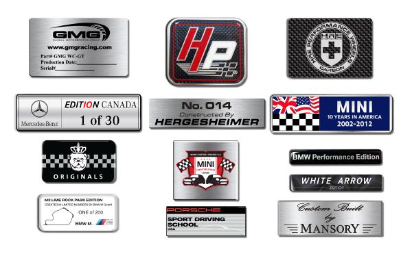 Camisasca Automotive Custom Dealership Vehicle Badges