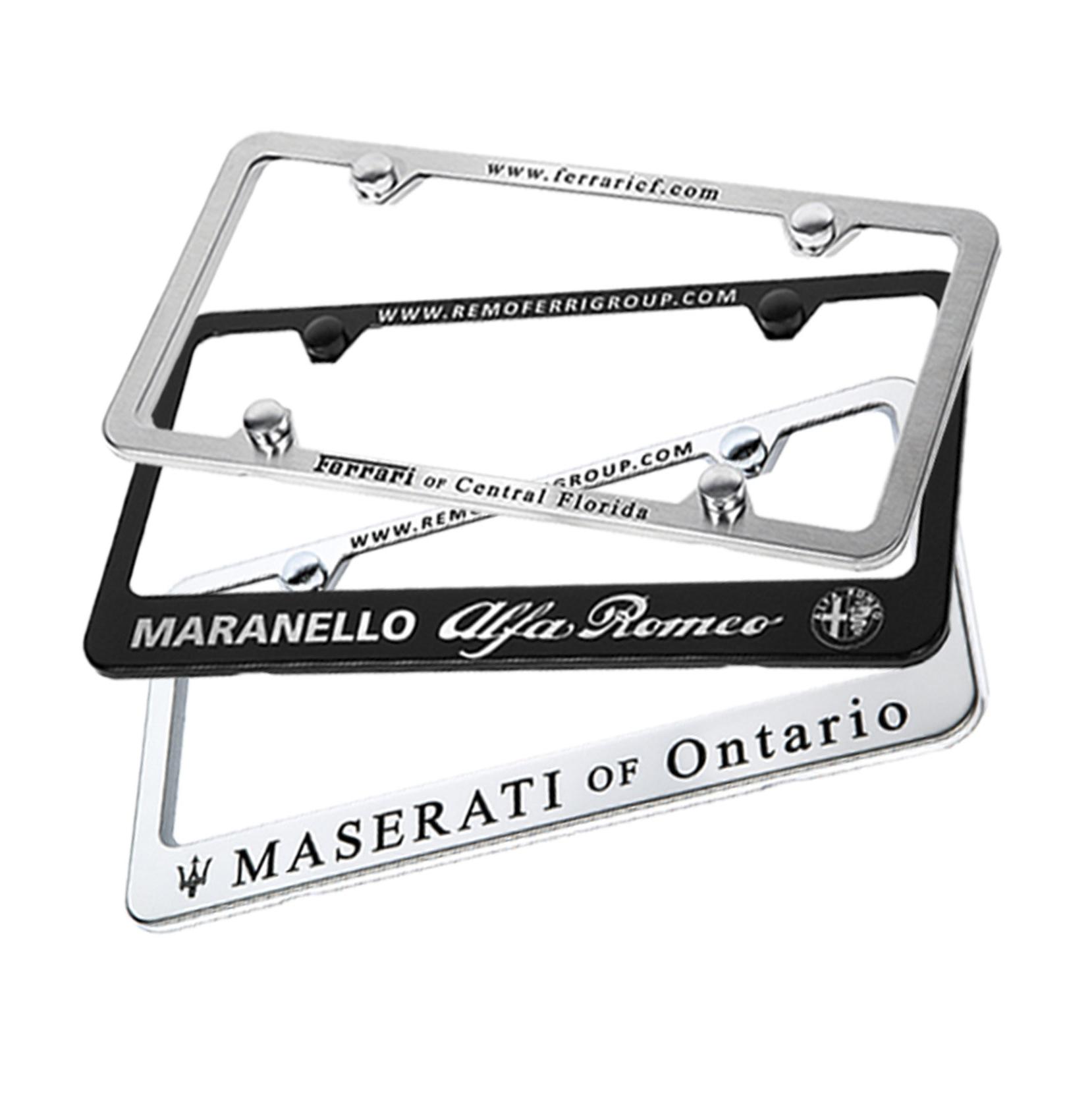 Camisasca Automotive Laser Etched Dealership License Plate Frames