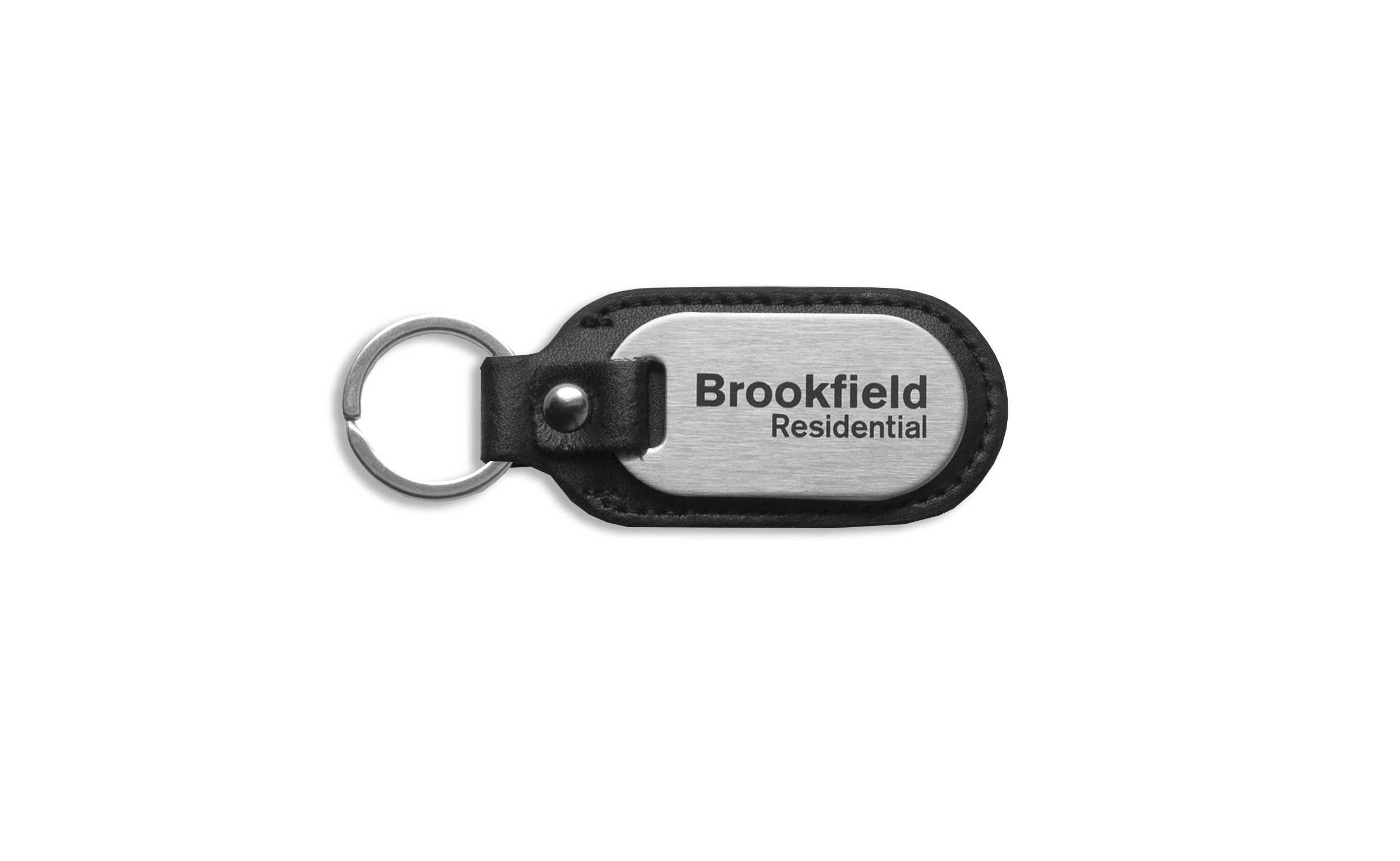 Custom Brushed Brookfield Homes Keychain