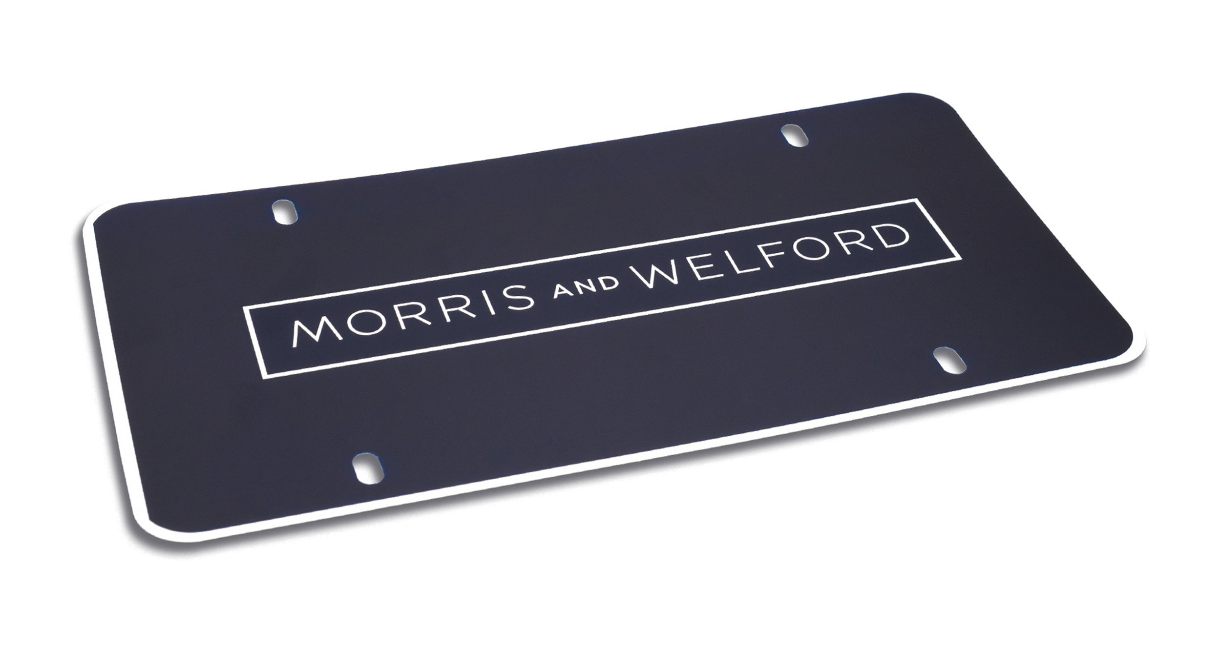 Custom Morris and Welford Polyester Insert Card