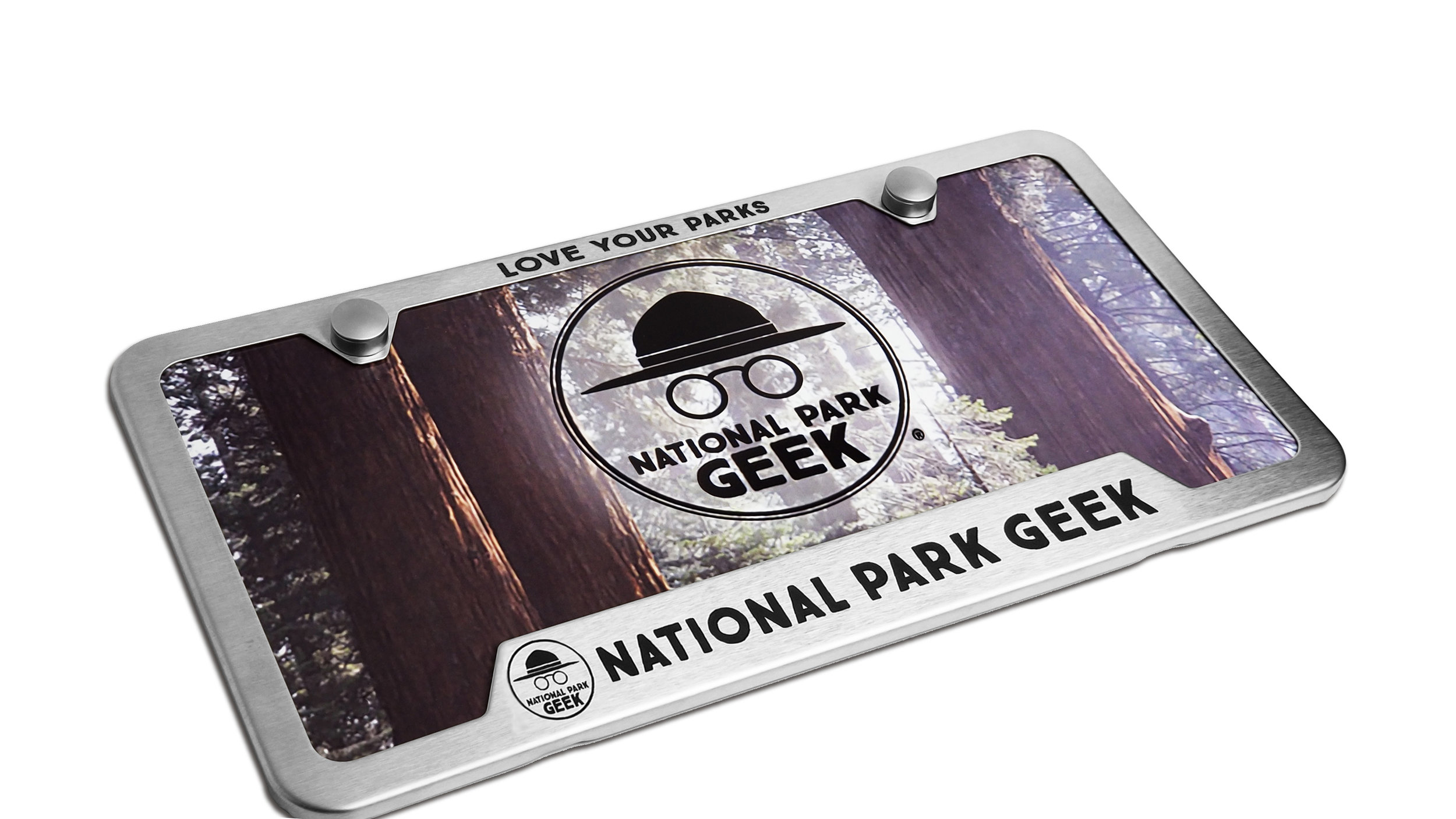 Custom National Park Geek Brushed Frame & Polyester Card