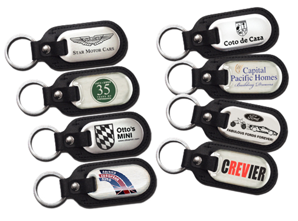 Camisasca Automotive Leather Stainless Steel Keychains