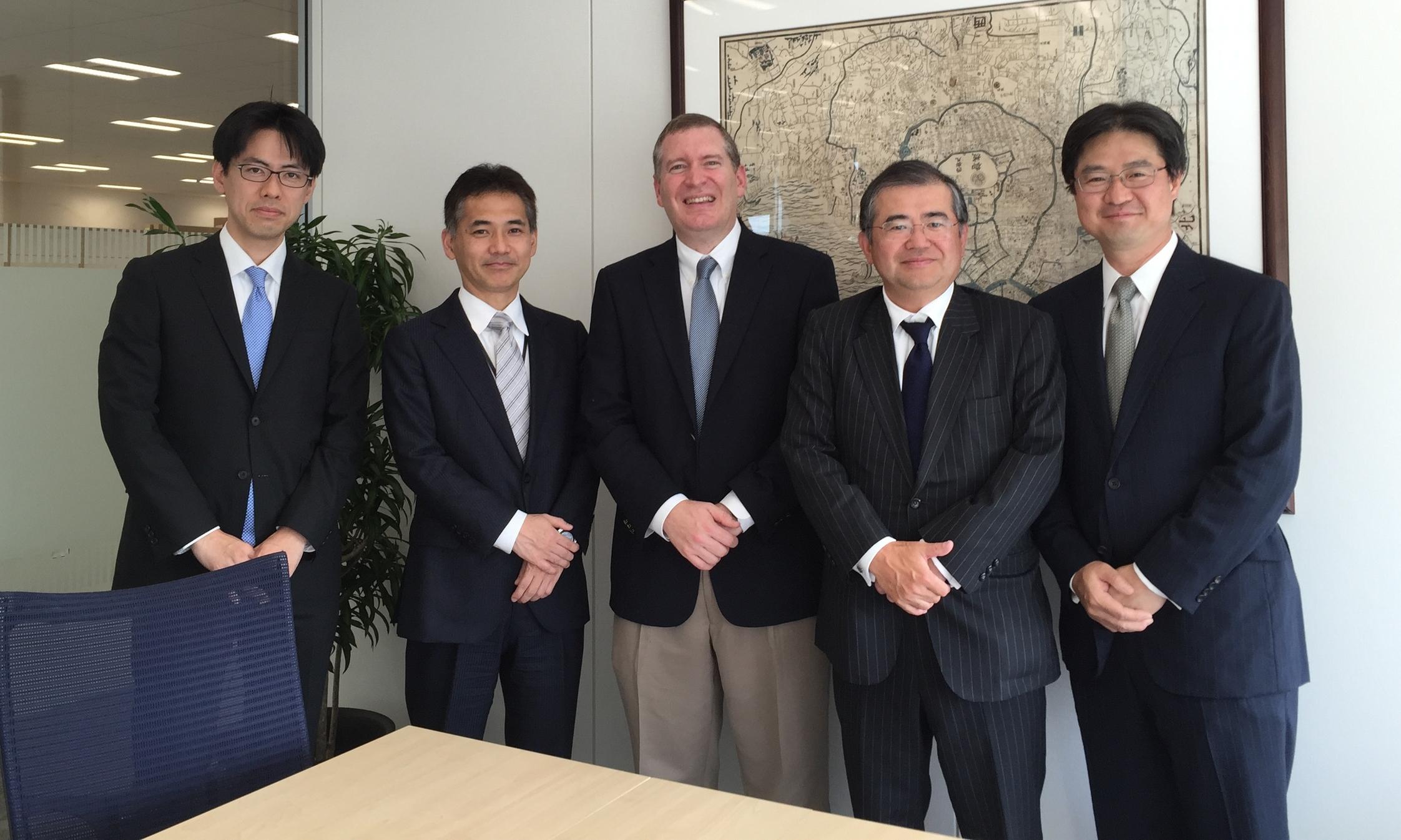 John Lunt with Masaki Sugihara, Hisashi Takahashi, Naoki Kawachi, and Masatoshi Tobita of State Street Global Advisors