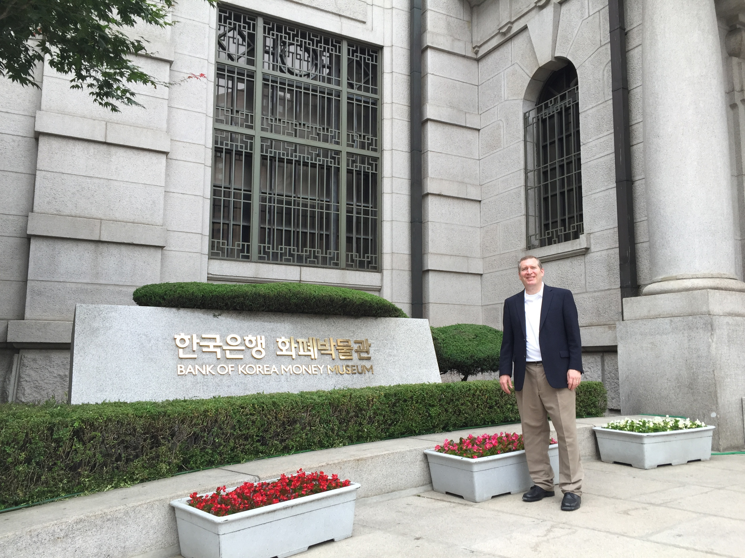 John Lunt at the Bank of Korea Money Museum