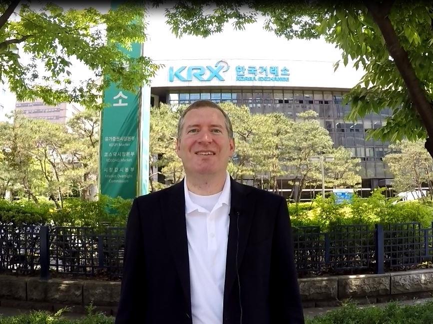 John Lunt at the Korea Stock Exchange