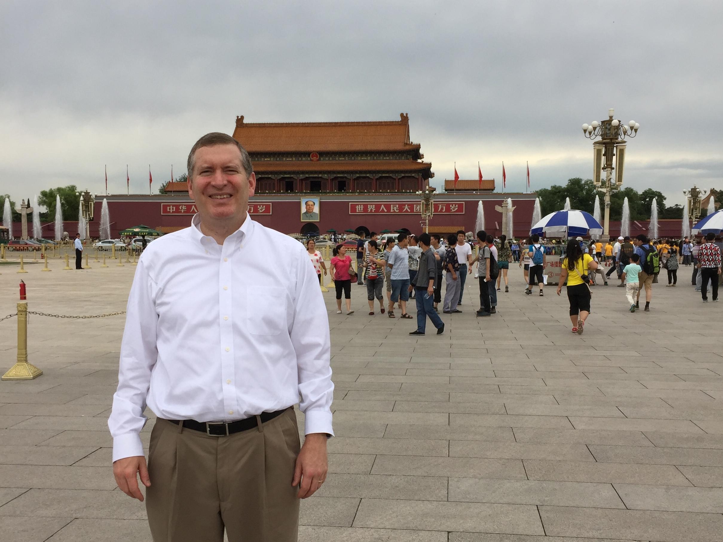 John Lunt at Tienanmen Square