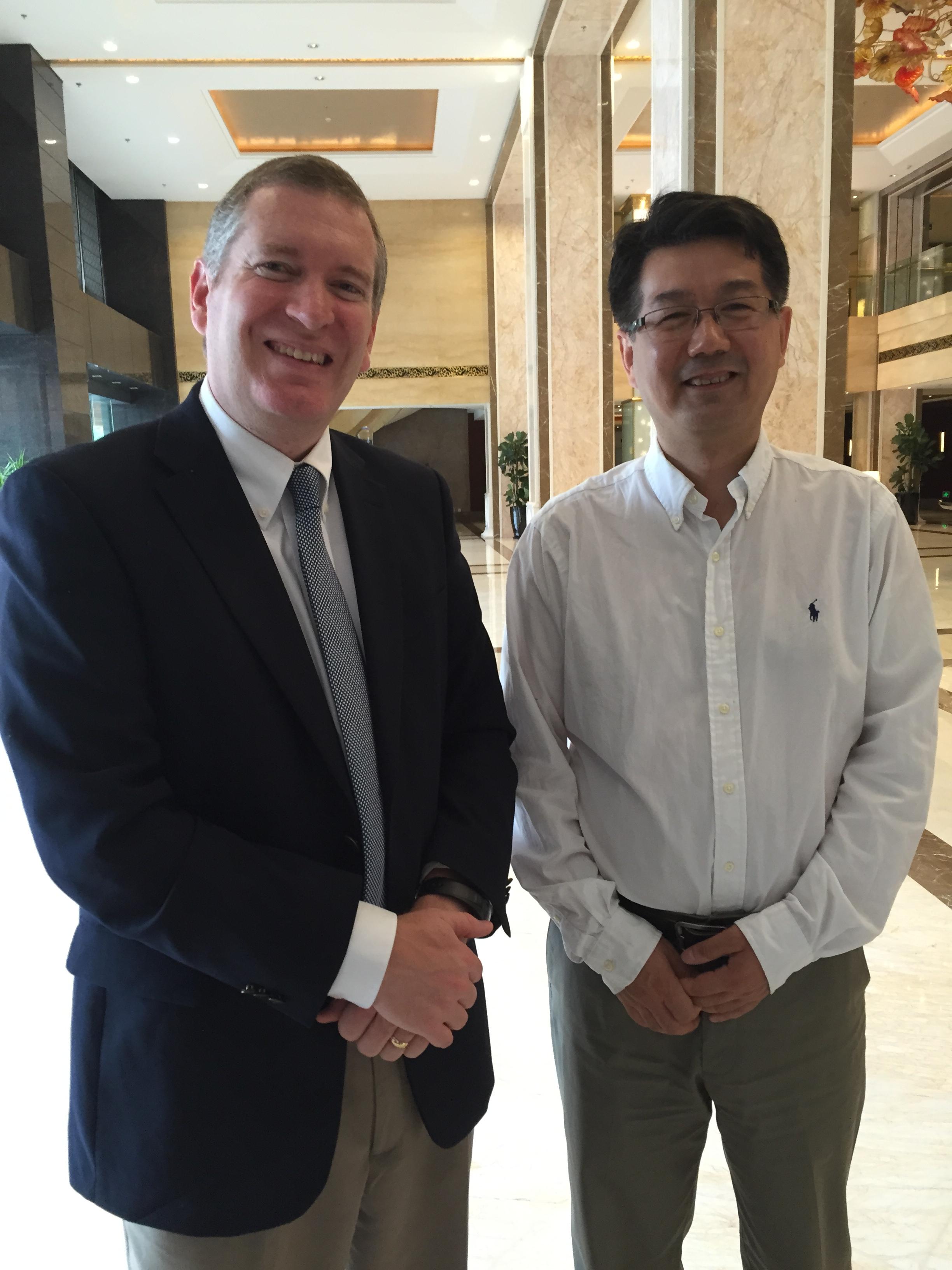 John Lunt with Tian Huan
