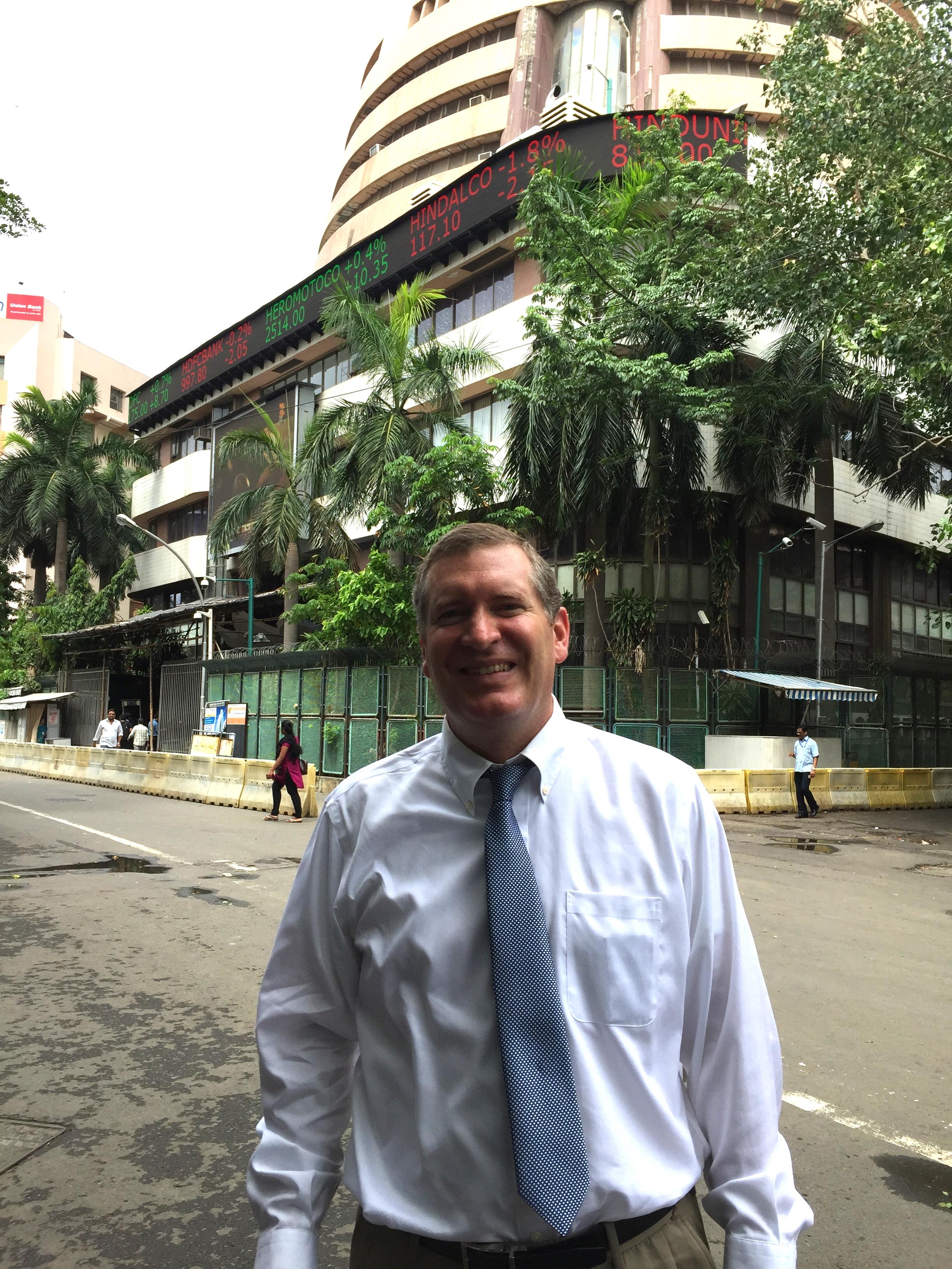 John Lunt at the Bombay Stock Exchange