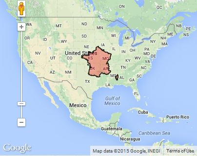 Country size comparison: France v. USA