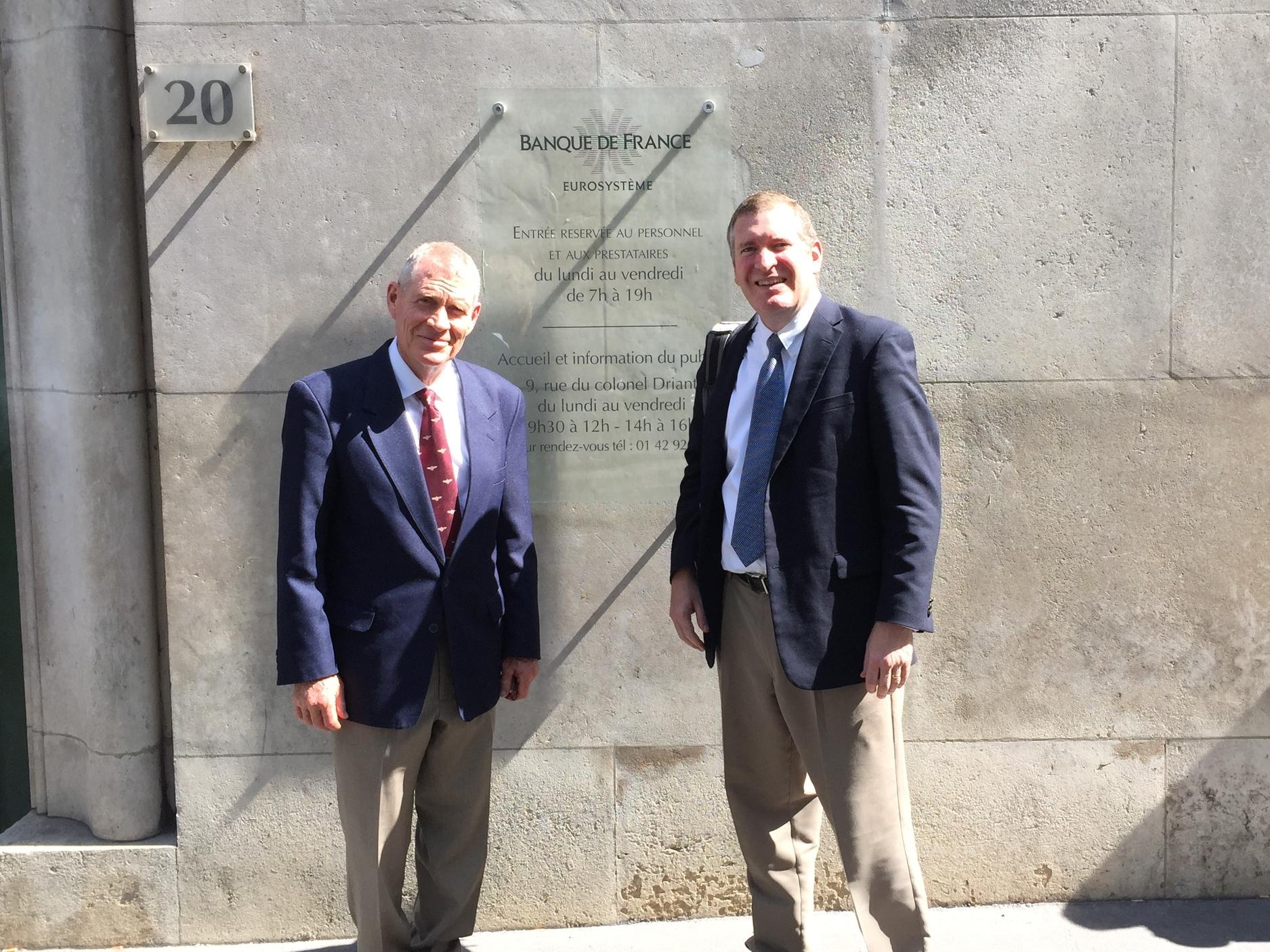 Larry Lunt and John Lunt at Banque de France